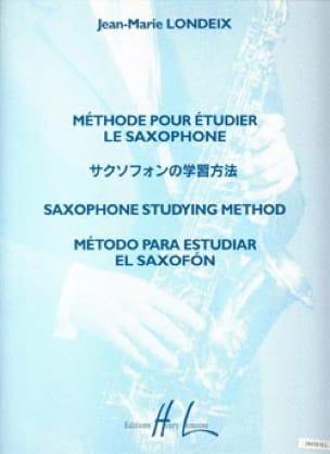 Londeix - Méthode pour étudier le Saxophone - Partition - di-arezzo.fr