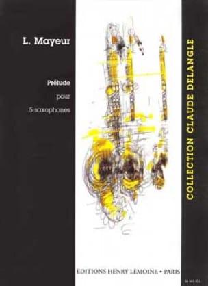 Prélude - L. Mayeur - Partition - Saxophone - laflutedepan.com