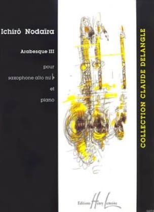 Ichirô Nodaira - Arabesque III - Partitura - di-arezzo.es