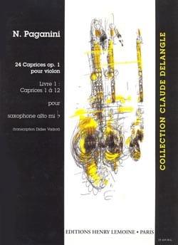 24 Caprices Opus 1 Volume 1 Niccolo Paganini Partition laflutedepan