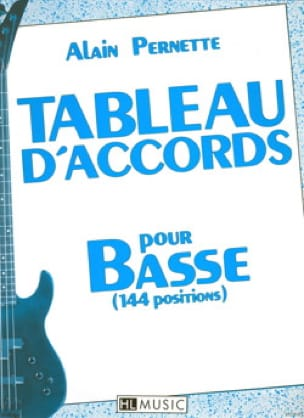 Alain Pernette - Chord Table For Low 144 Positions - Sheet Music - di-arezzo.co.uk