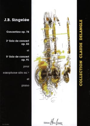 Jean-Baptiste Singelée - Concertino Opus 78 / 3rd Solo / 5th Solo - Sheet Music - di-arezzo.co.uk