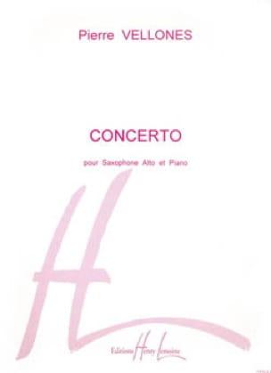 Concerto Pierre Vellones Partition Saxophone - laflutedepan