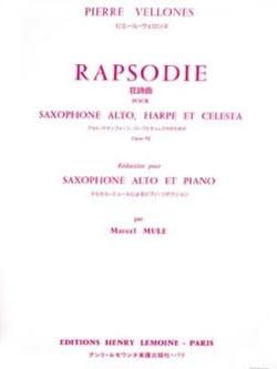 Rhapsodie Opus 92 Pierre Vellones Partition Saxophone - laflutedepan
