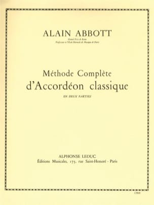 Alain Abbott - Volume 2 classic accordion method - Sheet Music - di-arezzo.co.uk
