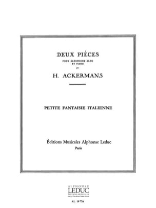 H. Ackermans - Petite Fantaisie Italienne - Partition - di-arezzo.fr