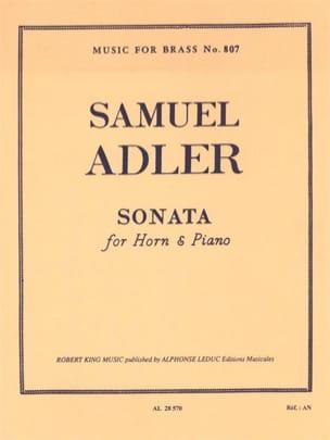 Sonata Samuel Adler Partition Cor - laflutedepan