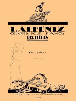 Chant D'Amour ALBENIZ Partition Saxophone - laflutedepan