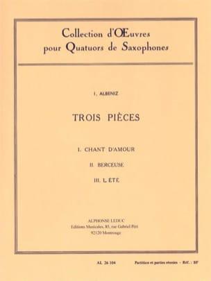 3 Pièces ALBENIZ Partition Saxophone - laflutedepan
