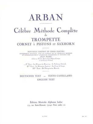 Jean-Baptiste Arban - Méthode Volume 1 - Partition - di-arezzo.fr