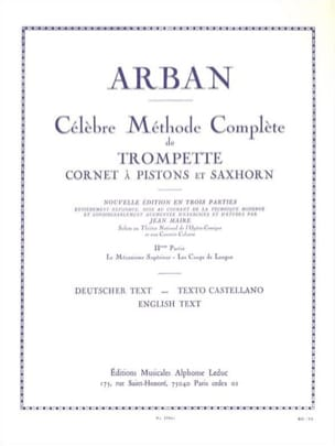 Jean-Baptiste Arban - Volume 2 Method - Sheet Music - di-arezzo.co.uk