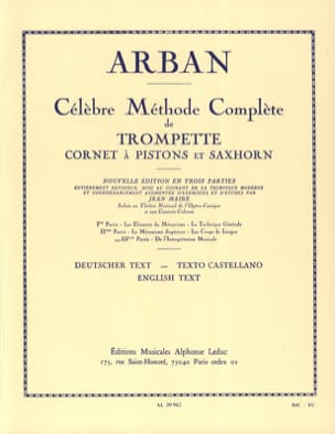 Jean-Baptiste Arban - Volume 3 Method - Sheet Music - di-arezzo.co.uk