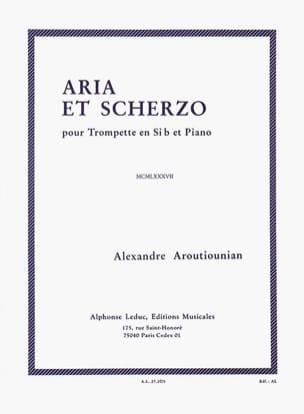 Alexander Arutiunian - Aria et scherzo - Partition - di-arezzo.fr
