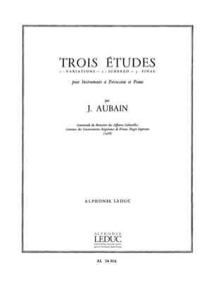 Jean Aubain - 3 Studies - Sheet Music - di-arezzo.co.uk
