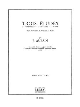 3 Etudes Jean Aubain Partition Multi Percussions - laflutedepan