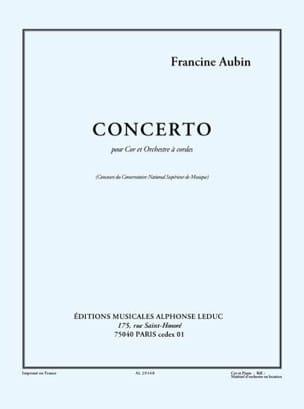 Francine Aubin - Concerto - Sheet Music - di-arezzo.co.uk