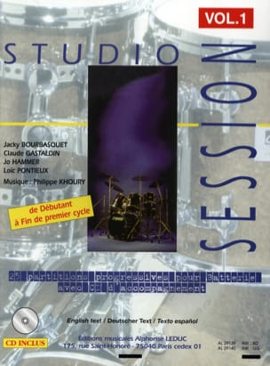Studio Session Volume 1 Partition Batterie - laflutedepan