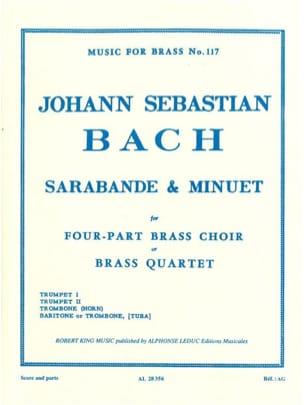 Sarabande & Minuet BACH Partition Ensemble de cuivres - laflutedepan