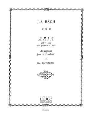 Aria Bwv 1068 BACH Partition Trombone - laflutedepan