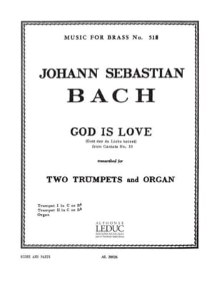 BACH - God is love from cantate N° 33 - Partition - di-arezzo.fr