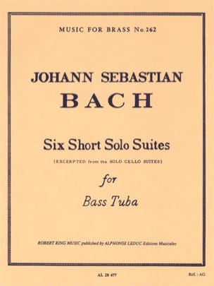6 Short solo suites BACH Partition Tuba - laflutedepan