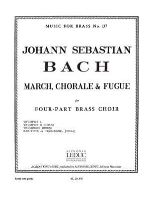 BACH - March, chorale & fugue - Partition - di-arezzo.fr