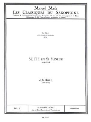 BACH - Suite En Si Mineur Badinerie - Partition - di-arezzo.fr