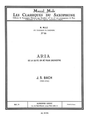 Aria - BWV 1068 BACH Partition Saxophone - laflutedepan