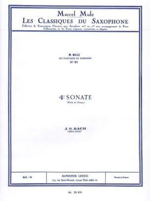 BACH - 4e Sonate Flute - Partition - di-arezzo.fr