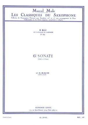 BACH - 6e Sonate Flûte - Partition - di-arezzo.fr