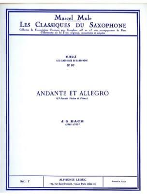 BACH - Andante et Allegro - Partition - di-arezzo.fr