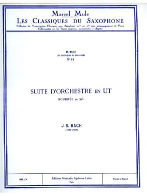 BACH - Suite D'orchestre en Ut Bourrée En Sib - Partition - di-arezzo.fr