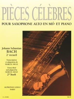 Pièces Célèbres Volume 2 BACH Partition Saxophone - laflutedepan