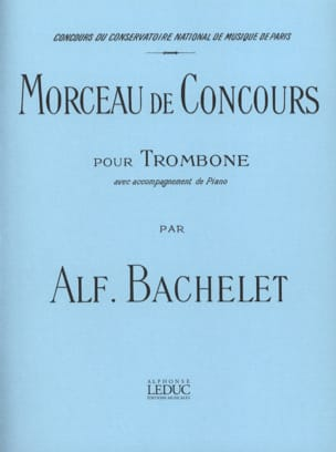 Alfred Bachelet - Piece of Competition - Sheet Music - di-arezzo.co.uk