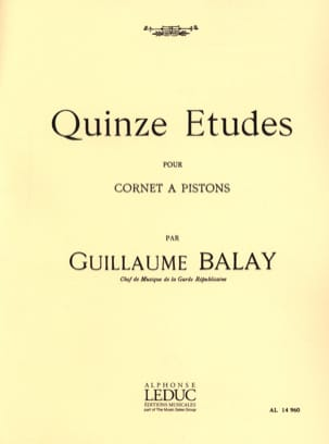Guillaume Balay - 15 Etudes - Partition - di-arezzo.fr
