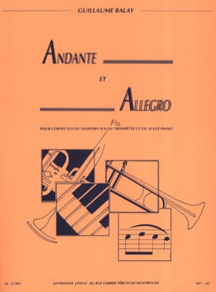 Guillaume Balay - Andante and Allegro - Sheet Music - di-arezzo.co.uk