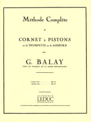 Guillaume Balay - Metodo completo Volume 1 - Partitura - di-arezzo.it