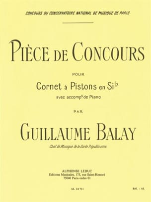 Guillaume Balay - Competition piece - Sheet Music - di-arezzo.co.uk