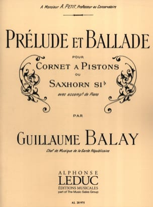Guillaume Balay - Prélude et Ballade - Partition - di-arezzo.fr