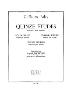 Balay / katarzynski - 15 Etudes - Partition - di-arezzo.fr