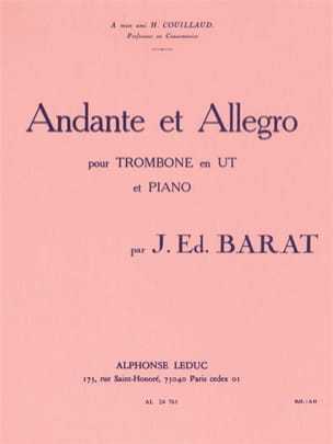 Joseph Eduard Barat - Andante and Allegro - Sheet Music - di-arezzo.co.uk