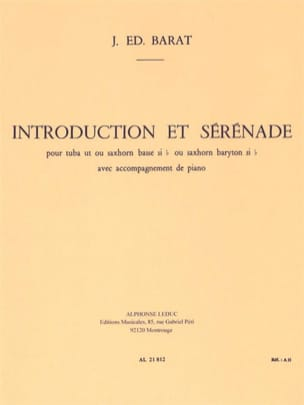 Joseph Eduard Barat - Introduction Et Sérénade - Partition - di-arezzo.fr