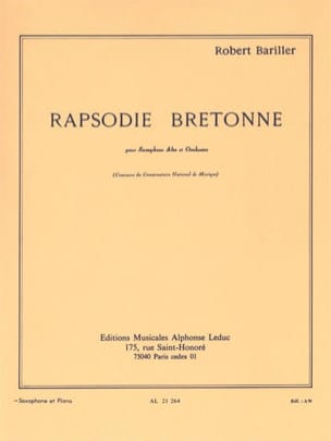 Bariller - Rapsodie Breton - Sheet Music - di-arezzo.co.uk