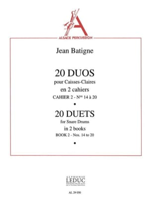 Jean Batigne - 20 Duos Notebook N ° 2 - Sheet Music - di-arezzo.co.uk