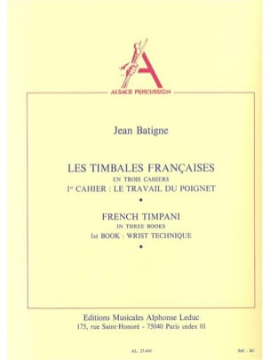 Jean Batigne - French Timbales Volume 1 - Sheet Music - di-arezzo.co.uk