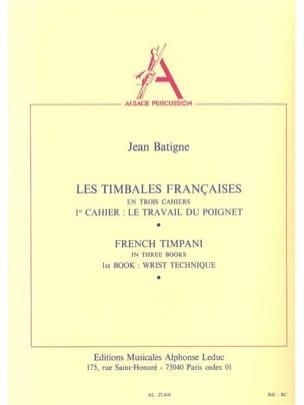Timbales Francaises Volume 1 Jean Batigne Partition laflutedepan
