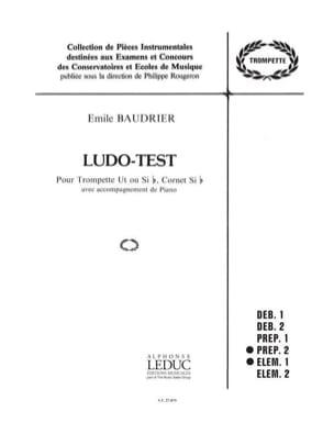 Ludo-test Emile Baudrier Partition Trompette - laflutedepan