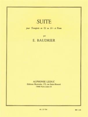Suite Emile Baudrier Partition Trompette - laflutedepan
