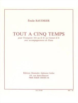 Tout A Cinq Temps Emile Baudrier Partition Trompette - laflutedepan