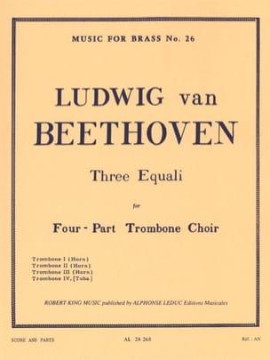 3 Equali - BEETHOVEN - Partition - Trombone - laflutedepan.com